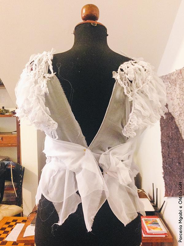 Superfície manual/handmade em vestuário